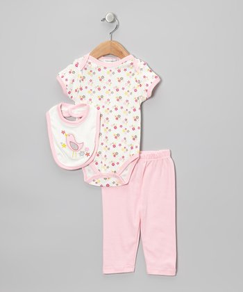Light Pink Bird Pants Set