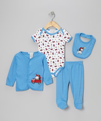 Light Blue Dalmatian Cardigan Set