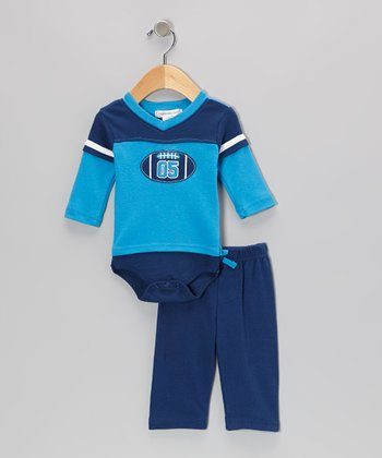 Blue Football Layered Bodysuit & Pants