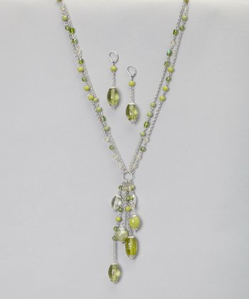 Green Necklace & Earrings Set