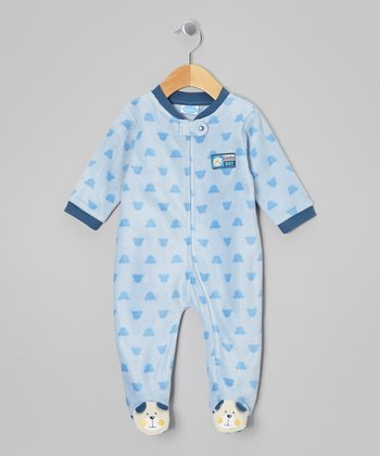 Blue Puppy 'Little Boy' Footie