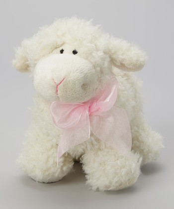 White & Pink Dimple Lamb Plush Toy