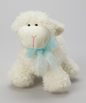 White & Blue Dimple Lamb Plush Toy