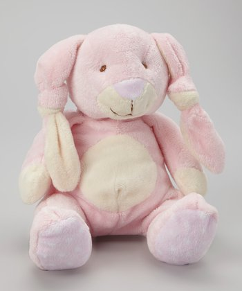 Pink Knotted Ear Bunny Plush Toy