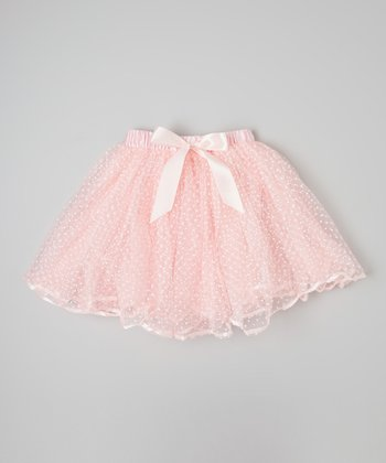 Pink & White Polka Dot Tutu - Infant & Toddler