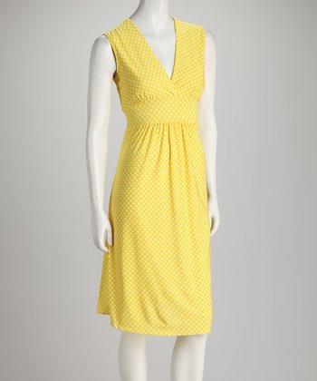 Lemon Polka Dot Dress