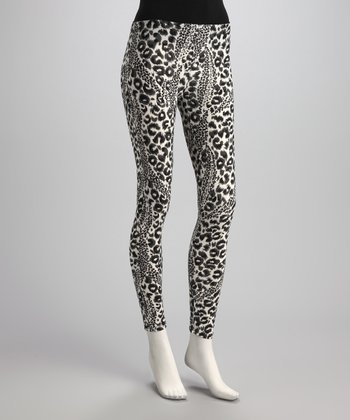 Black & White Leopard Leggings