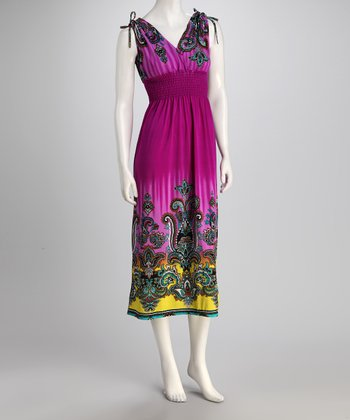 jon & anna Purple Tie Surplice Dress