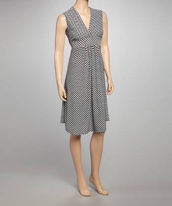 White Polka Dot Sleeveless Dress