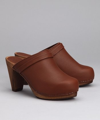 Brown Wood Agny Cone Clog - Women