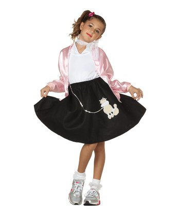 Black Poodle Skirt - Girls