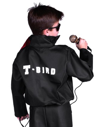 Black 'T-Bird' Faux Leather Jacket - Boys