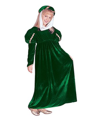 Green Renaissance Princess Dress-Up Outfit - Girls