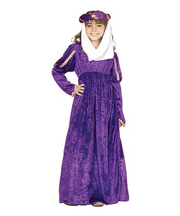 Purple Renaissance Princess Dress-Up Outfit - Girls