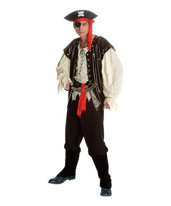 Black & Ivory Pirate King Costume - Men