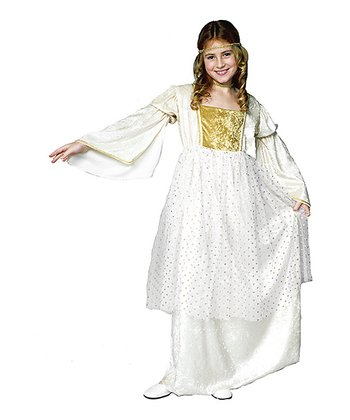 RG Costumes White Fairy-Tale Queen Dress-Up Outfit - Kids