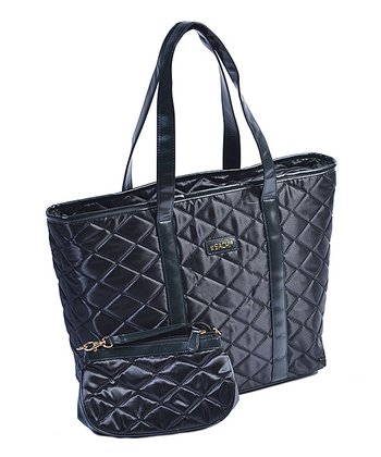 Black Day-to-Night Tote & Pouch