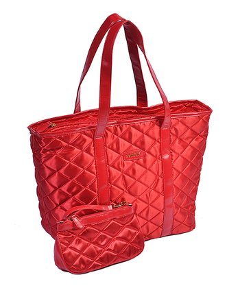 Red Day-to-Night Tote & Pouch