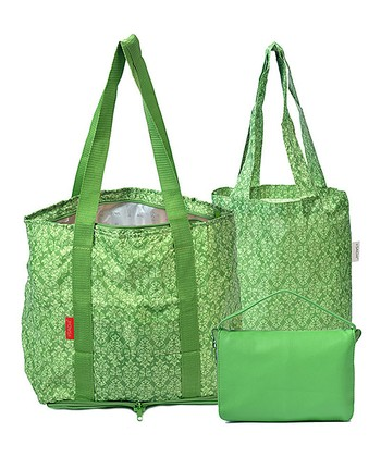 Green Fold 'n' Go Tote Set