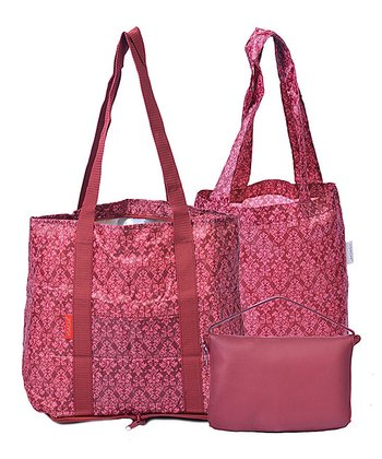Red Fold 'n' Go Tote Set