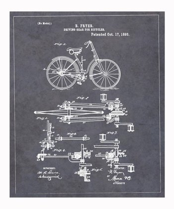 'Driving Gear for Bicycles' 1893 Art Print