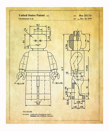 Lego 'Toy Figure' 1979 Art Print