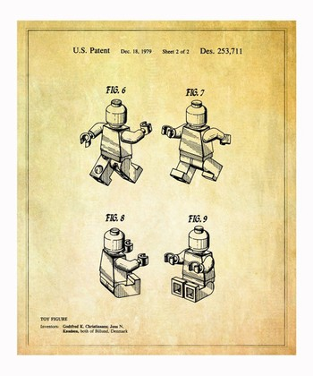 Lego Toy Figure 2 1979 Art Print