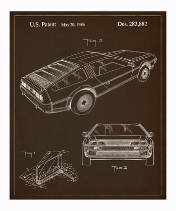 Delorean 1986 Art Print