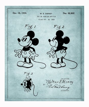 Mickey Mouse 1930 Art Print