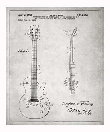 Gibson Les Paul Guitar 1955 Art Print