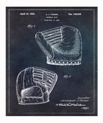 Baseball Mitt Wall Art Print