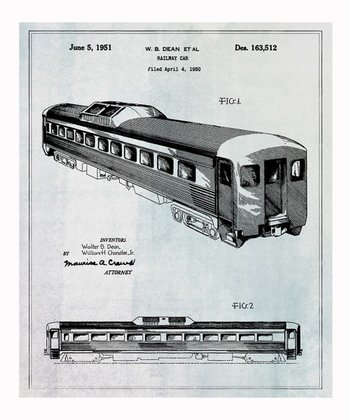 Railway Car 1951 Art Print
