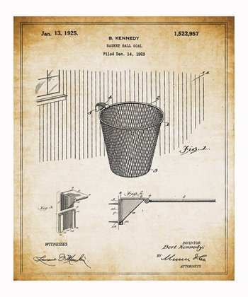 Basketball Hoop 1925 Art Print