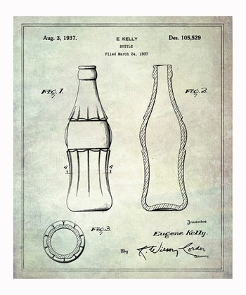 Coca Cola Bottle 1937 Art Print