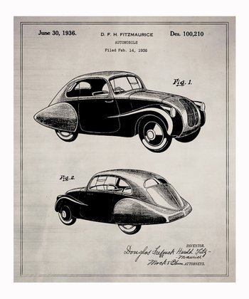 Design for an Automobile 1936 Art Print