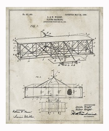 Wright Flying Machine 1906 Art Print
