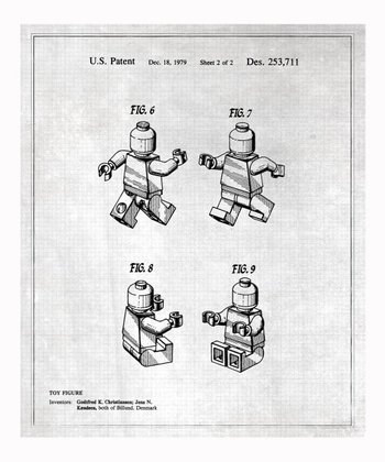 Gray Lego Toy Figure #2 1979 Art Print