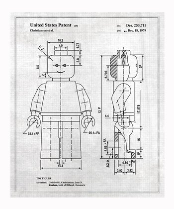 Gray Lego Toy Figure 1979 Art Print