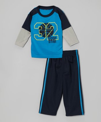 True Blue Graphic Layered Tee & Pants - Infant