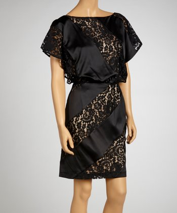 Black Lace Cutout Dress