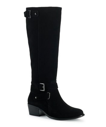 Black Wide-Calf Belina Riding Boot