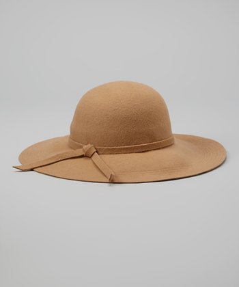 Tan Wool Felt Hat