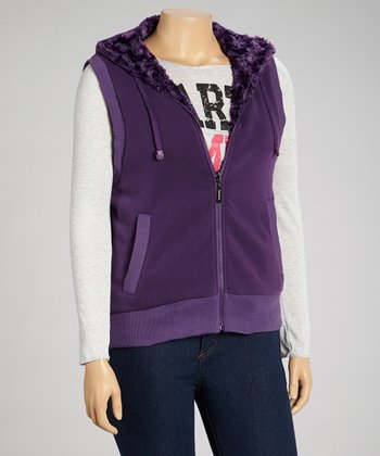 Purple Hooded Vest