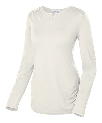 Birch Long-Sleeve Scoop Neck Top
