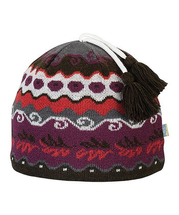 Lollipop Iris Wool-Blend Beanie