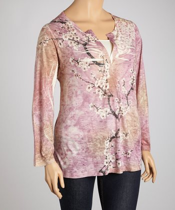 Lavender East Breeze Top - Plus