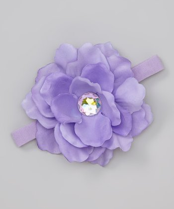 Lavender Gem Flower Headband