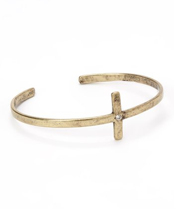 Antique Gold Cross Cuff
