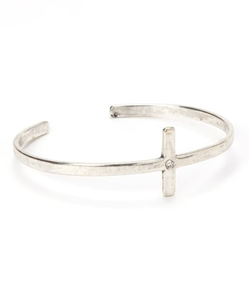 Antique Silver Cross Cuff