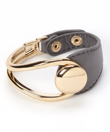 Gold & Gray Snap Bracelet
